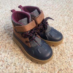 Toddler Navy & Gray Carter's Duck Boot Size 8
